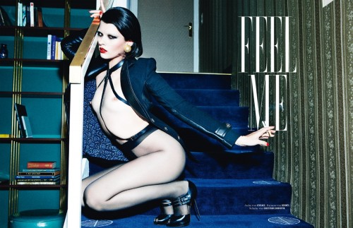 Feel Me  Crystal Renn by Ellen von Unwerth for Tush #25 Summer 2011