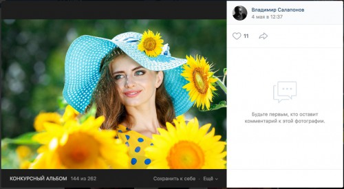 Скриншот с фотографией из конкурсного альбома https://vk.com/photo-165250158_456239213, фотограф — Владимир Салапонов