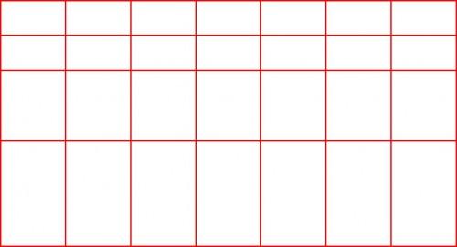 Маска Фибоначчи 3 линии на 6 линий.
